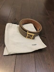Beige leather Fendi Belt