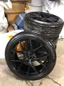 """19"""" Black wheels with summer tires"""