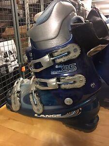 K2 skis and lange ski boots