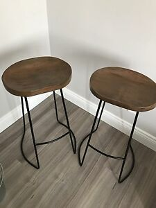 Bar stools - black and wood