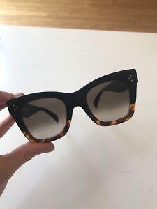 51be408133a9 Genuine CELINE  Cat Eye  sunglasses in black Havana   gradient lense