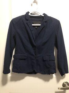 Banana republic 3/4 sleeve navy blue blazer