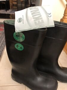 Brand new safety boots. Made in Belgium