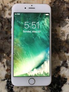 iPhone 6 16 GB unlocked white $200 fIrm!!!