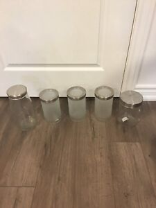 IKEA glass canisters
