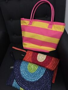Summer hand bags x3 BRAND NEW, two with tags Wakerley Brisbane South East Preview