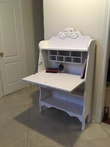 French white vintage secretary desk