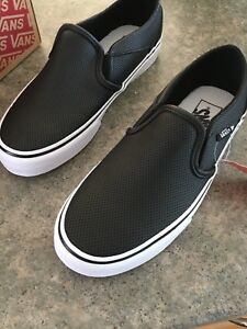 NEW leather vans