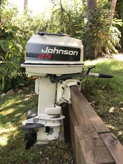 25 hp Johnson 2 stroke outboard motor