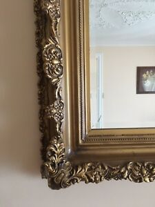 Gold Frame and Beveled Mirror