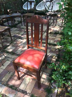 Silky oak chair