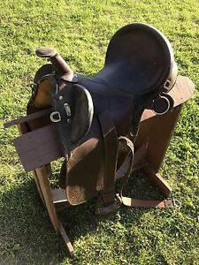 Antique Mexican roping saddle