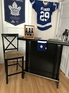 Wooden bar with tile top - man cave !