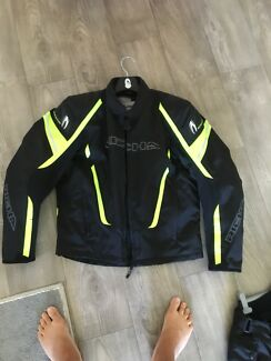 Padded motorcycle jacket as new