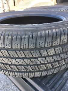 Set of four 275 60R20 Goodyear Wranglers