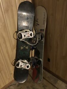 Snowboard and (ride bindings) almost new I think I used it once