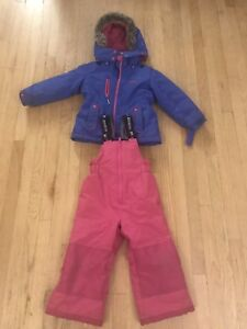 Osh Kosh 4T girl's pink and purple snow suit winter coat jacket