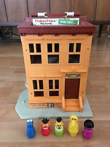 Vintage Fisher Price Little People Sesame Street House