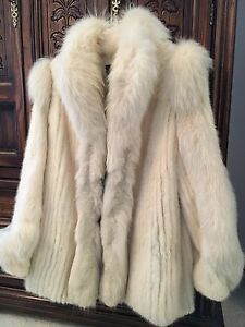 White Fox and Mink Fur Coat