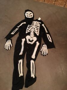 Skeleton costume size 12 kids