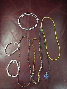 5 necklaces 2 bracelets
