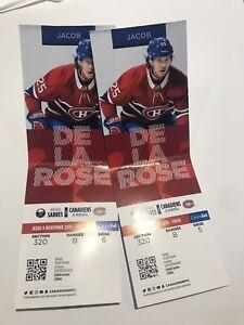 Montreal canadiens buffalo sabres hockey tickets billets