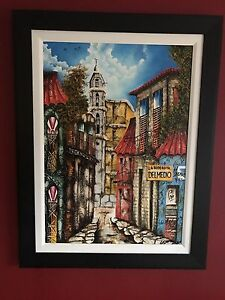 Oil painting from Cuba professionally framed