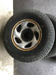 Winter rims with tires
