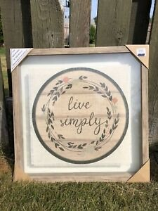LIVE SIMPLY framed