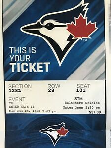 5 Blue Jays tickets