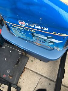 King tile saw and accessories