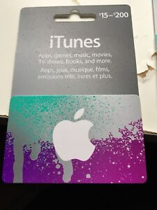 5 iTunes gift card loaded each with 200$ each for 180$