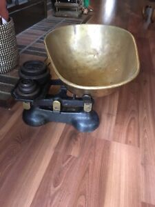 Siddons brass and cast iron weighing scales