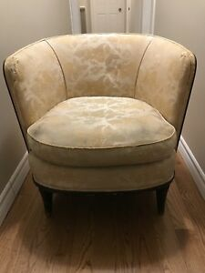 Wooden Upholstered Armchair