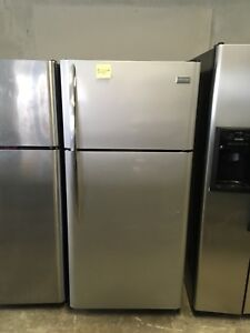 Frigidaire stainless steel fridge new condition 1 year old