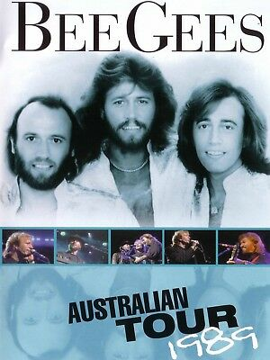 "Bee Gees Australia 1989 16"" x 12"" Reproduction Concert Poster Photo"
