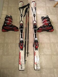 Skis, boots, and poles