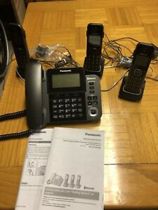 Panasonic corded phone with 3 cordless handsets