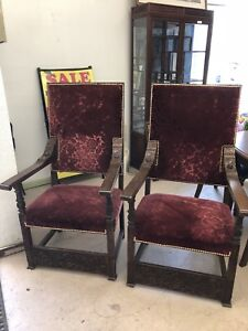 Antique Chairs Originally From Casle Loma