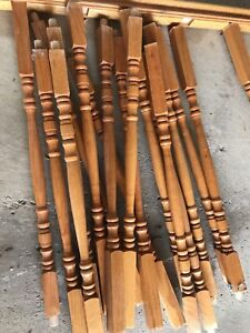 Solid oak spindles $50 for lot