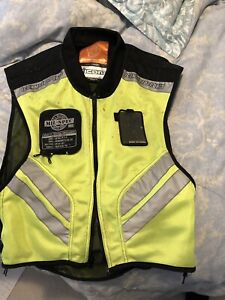 Icon Mil Spec high vis yellow motorcycle vest