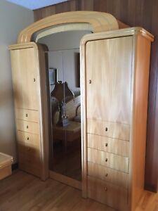 Set de chambre en frêne avec box et matelas