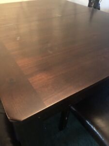 dining table+ four chairs + bench for sale!