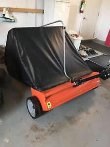 """44"""" tow-behind lawn sweeper"""