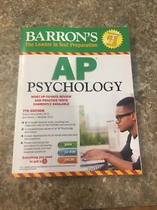 BARRON's AP Psychology test prep 7th edition