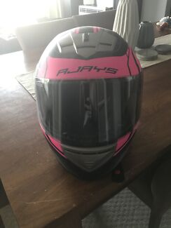 Pink/Black Rjays Helmet New.