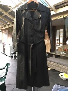 Andreas leather trench coat