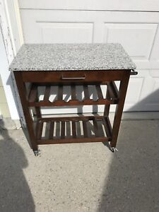 Granite Top Kitchen Island Cart