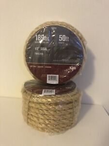 """1/2"""" Twisted Sisal Rope (50ft)"""
