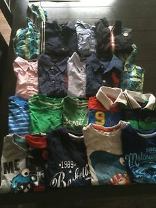 Lot of t shirts and shirts for boys 3-4 years